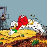 dagobert zwemt in geld