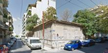 De muur (hoek Constantinou Paleologou / Samos Straat) zonder graffiti