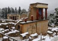 Knossos in de sneeuw / Foto: chaniapost