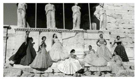 De fotoshoot van Dior in 1951