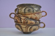 Gedecoreerd servies van aardewerk