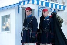 Evzones trotseren de kou in Athene