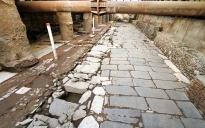 De Decumanus Maximus op station Venizelou