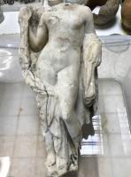 Een marmeren beeld van de godin Aphrodite dat werd gevonden in metrostation Agia Sofia