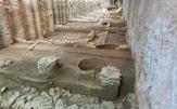 Restanten van funderingen uit de Hellenistische periode in metrostation Agia Sofia