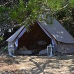 De luxe tent die op Airbnb werd aangeboden