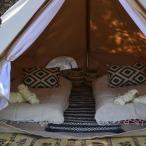 De binnenkant van de tent