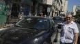 Auto's werden beschadigd door vallend puin
