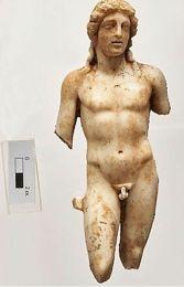 Het marmeren beeldje van Apollo