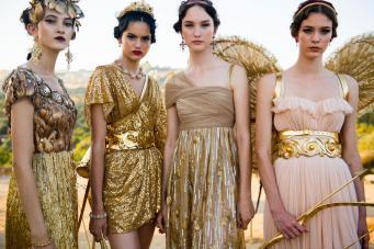 Goud was een belangrijke kleur in de nieuwe collectie van Dolce&Gabbama