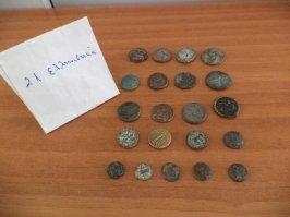 Deskundigen onderzoeken de herkomst en waarde van de munten