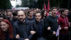 Ook oud-premier Alexis Tsipras liep mee in de mars